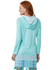 Woman wearing Coastal Cottage UPF 50+ Hooded Cover Up