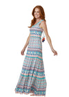 Woman wearing St. Barts Coverluxe Tiered Maxi Dress
