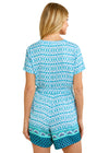 Aruba Blues Tassel Wrap Romper
