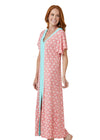 Woman wearing Coral Tides UPF 50+ Maxi Dress
