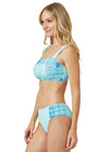 Woman wearing Coastal Cottage UPF 50+ Bikini Top and Coastal Cottage Bikini Bottoms