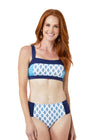 Woman wearing Seascape Bikini Top & Seascape Bikini Bottom