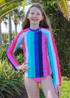 Cabana Stripes Rashguard Set