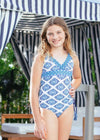 Girls Batik One-Piece Swimsuit