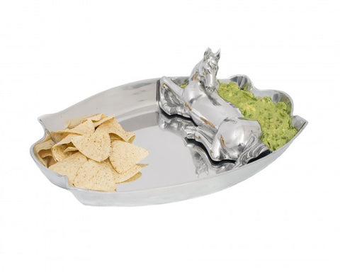 ARTHUR COURT 104096 HORSE FIGURAL CHIP AND DIP