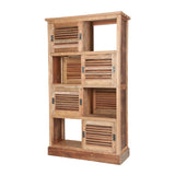 Guild Master Reclaimed Wood Cabinet w/ Louvered Sliding Doors