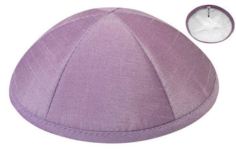 Six Panel Deluxe Silk Kippah With Button