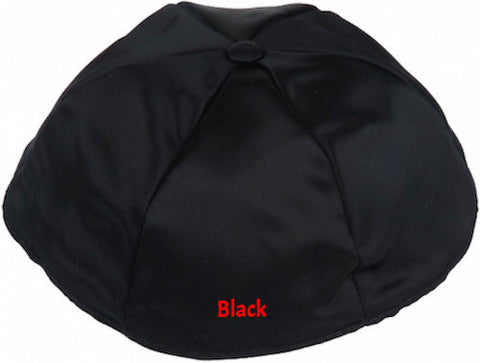 Black Traditional Satin Kippah