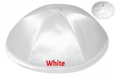 Six- Panel Deluxe Satin Kippah Kippot, - Israel's Judaica Simcha Store, kippah Wedding Glass, Satin Kippah, Suede Kippah,