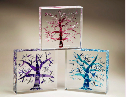 Lucite Tree of Life Wedding Glass - Israel's Judaica Simcha Store