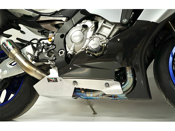 YAMAHA R1 2015-2017 & MT10 2016 - 2017 AUSTIN RACING FULL TITANUIM EXHAUST  SYSTEM GP1R SILVER TIP WITH TITANIUM CAN