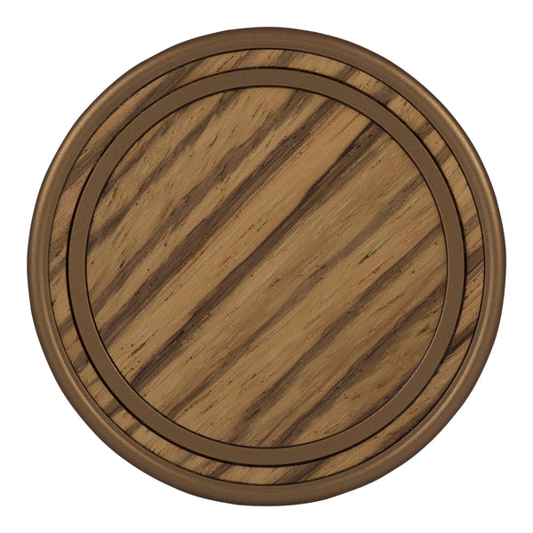 Arbor - Antique Bronze - Zebrawood (Front)
