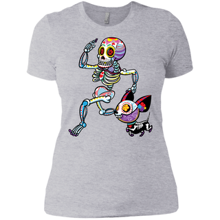 Sugar Souls Jogger With Pup Ladies' Boyfriend T-Shirt