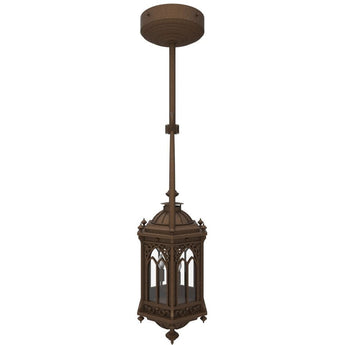 Barcelona Iron Light - Pendant Stem - Lighting Outdoor Lighting Stem-Mount Lights