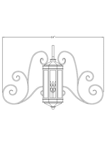 Century Iron Light - Central Wall - Central-Mount Sconces Brass Lighting Outdoor Lighting