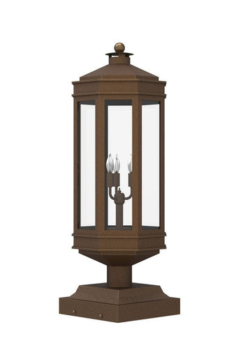 Century Iron Light - Pier - Brass Lighting Outdoor Lighting Mount- Landscape 06 Pier-Mount Lights