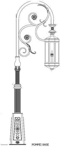 Century Iron Light - Post Bracket - Hanging Lights Brass Lighting - Mount Outdoor Lighting