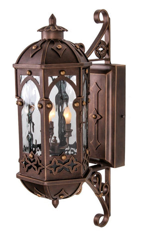 Cistercian Iron Light - Wall Sconce - Lighting Outdoor Lighting Sconces
