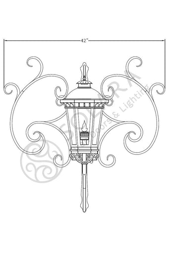Constantino Iron Light - Central Wall - Central-Mount Sconces Lighting Outdoor Lighting