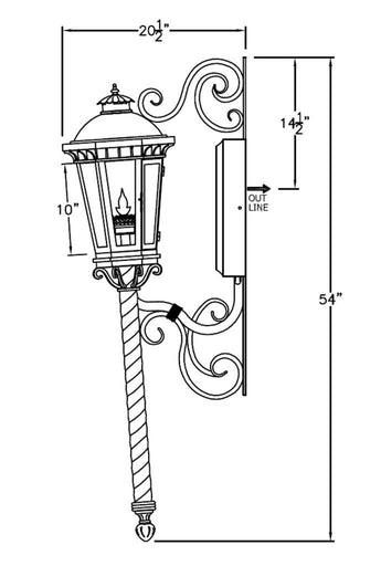 Constantino Iron Light - Torch Wet Area - Lighting Outdoor Lighting - Landscape 08 Lights - Locations