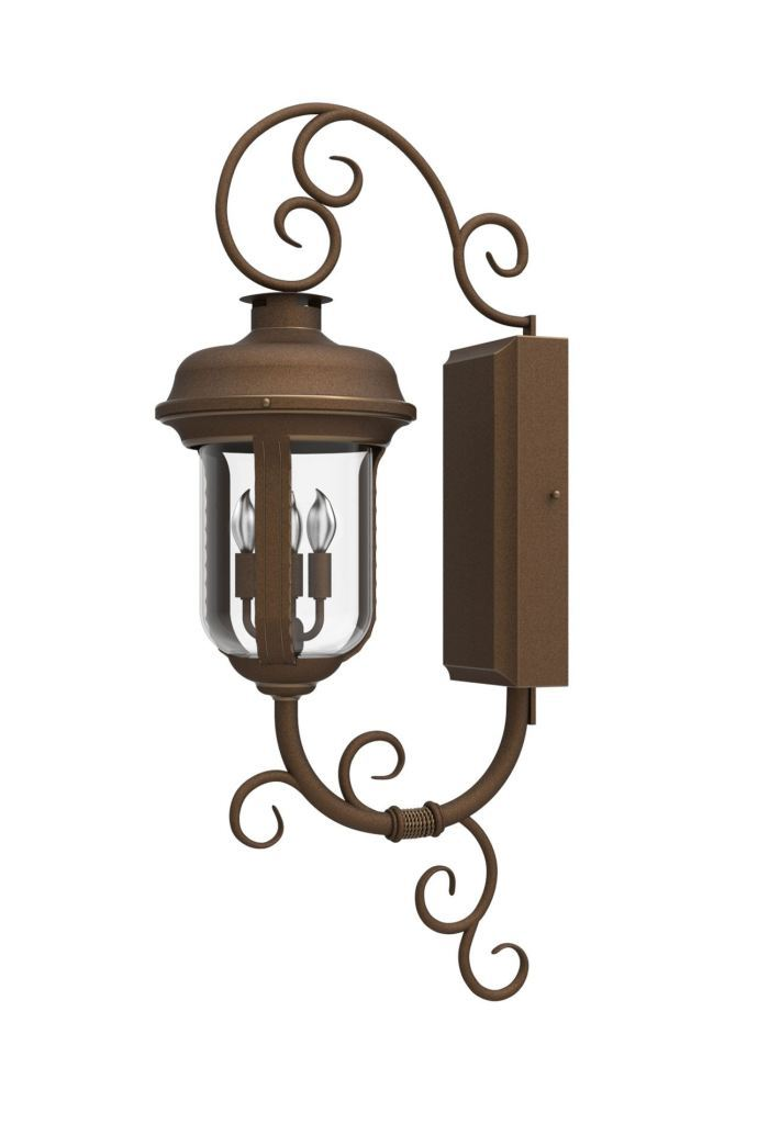 Solara Outdoor Lighting Tuscan Iron Wall Sconce