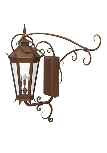Viking Iron Light - Central Wall - Central-Mount Sconces Brass Lighting Outdoor Lighting