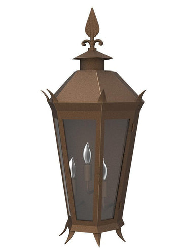 Viking Iron Light - Flush Scone - Flush-Mount Wall Sconces Brass Lighting - Only Electric Outdoor Lighting