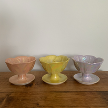 Rainbow pearl glazed bowls - set of 6