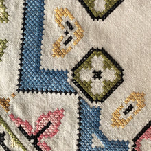 Vintage Linen Cross Stitch Tablecloth