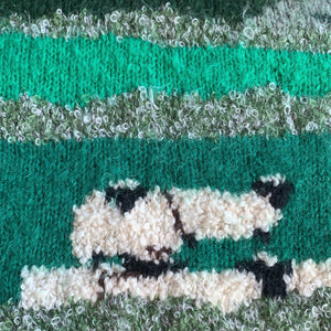 Vintage Sheep Hand Knit - Green