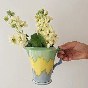 Vintage Art Deco Painted Jug