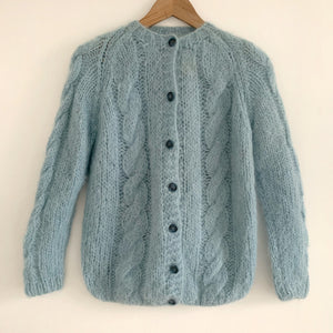 Vintage cable knit mohair Cardigan