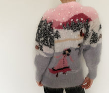 Vintage Winter Scene Hand Knit Jumper
