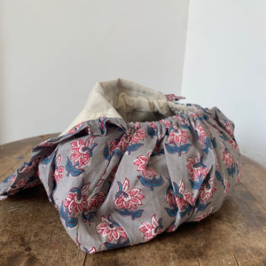 Block Print Cotton Balloon Make-Up Bag