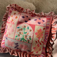 Needlepoint Velvet Frill Cushion