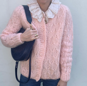 Vintage honeycomb knit mohair Cardigan