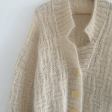 Vintage oversized basketweave Hand Knit Cardigan