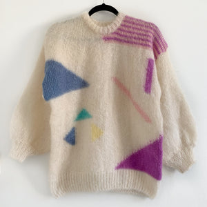 Vintage Hand Knit Mohair - Geo