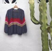 Rainbow Hand-Knit Cardigan (Italian Wool)