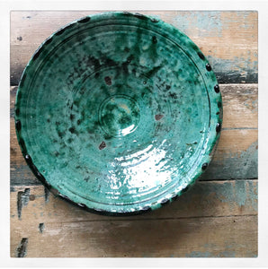 Tamegroute Glazed Ceramic Flat Bowl