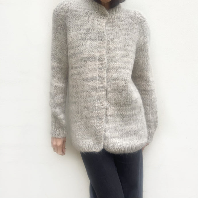 Vintage Mohair Silver/Pale Grey Cardigan
