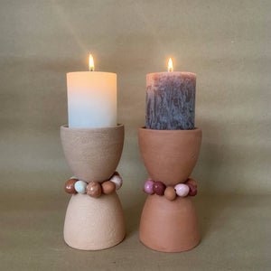 Tina Vaia Single Beaded Totem Candleholder