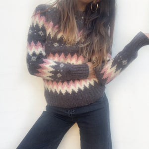 Vintage Fair Isle Jumper - Wool