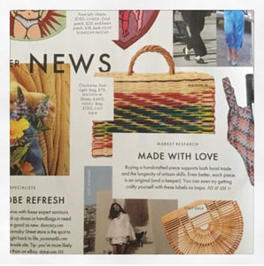 Portuguese Basket Bag - RAINBOW MEDIUM as seen in Elle UK