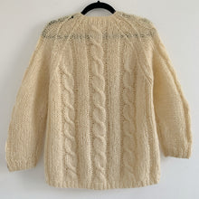 Hand Knit Ivory Mohair Cardigan