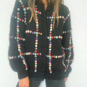 Black Bobble Cardigan