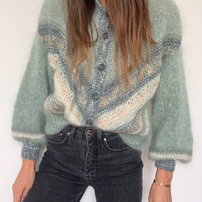 Vintage Hand Knit Mohair Cardigan