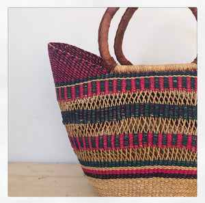 Multi-colour Grass Lace Shopper - Small