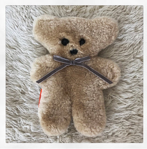 Sheepskin Cuddle Bear - Honey