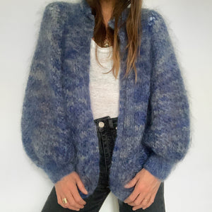 Vintage Mohair Hand Knit - Blue